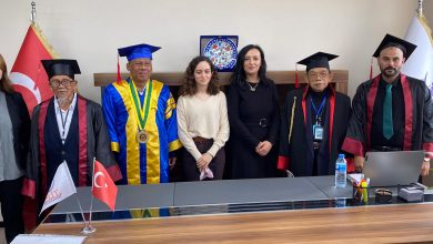 "Photo of باشن العالمية- تركيا""  تمنح علماء اندونيسيين شهادات دكتوراه فخرية"